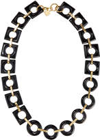 Ashley Pittman Mbele Geometric Dark Horn Link Necklace