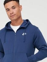 Nike Sportswear Club Fleece Full Zip Hoodie- Navy
