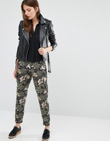French Connection Military Floral Print Pants