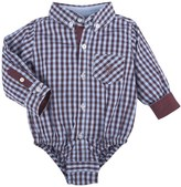 Andy & Evan Shirtzie Check Bodysuit (Baby Boys)