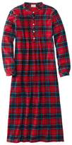 L.L. Bean L.L.Bean Scotch Plaid Flannel Nightgown