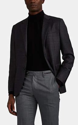 Barneys New York Men's Plaid Wool-Silk Two-Button Sportcoat - Gray Pat.