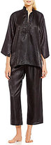 N by Natori Satin Animal Jacquard Pajamas