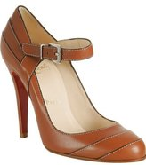 tan leather 'Wall Street' pumps