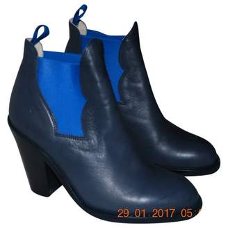 Acne Studios Blue Leather Ankle boots
