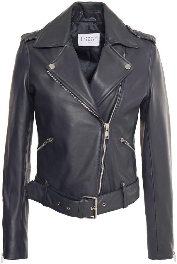 Claudie Pierlot Leather Biker Jacket