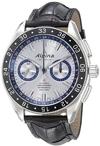 Alpina Men's AL-860AD5AQ6 Alpiner 4Chronograph Analog Display Automatic Self Wind Black Watch