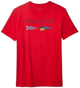 Nautica Flags Tee (Orange) Men's Clothing