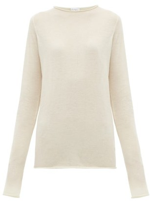 Raey Sheer Raw-edge Crew-neck Cashmere Sweater - Ivory