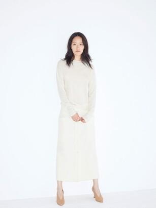 Raey Sheer Raw-edge Crew-neck Cashmere Sweater - Womens - Ivory