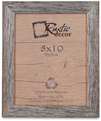 "Rustic Decor Llc Alamo Barn Wood Reclaimed Wood Photo Frame, 8""x10"""