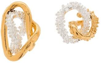 Alighieri asymmetric two-tone Lia earrings