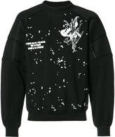 Carven embroidered trim sweatshirt - men - Elastodiene/Nylon/Viscose - S