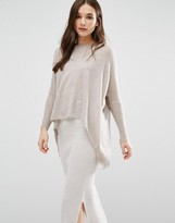 Subtle Luxury Cashmere Loose & Easy Sweater In Wheat