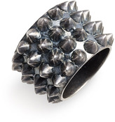 Tom Binns 'Punk Pave' Stud Ring Graphite 5
