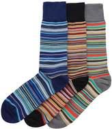Paul Smith Striped Three Pack of Socks