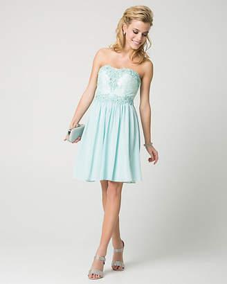 Le Château Jewel & Chiffon Sweetheart Party Dress