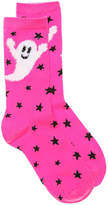 K. Bell Women's Ghost Crew Socks -Bright Pink