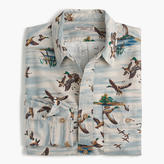 J.Crew Wallace & Barnes duck print workshirt