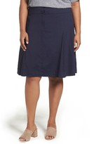 Eileen Fisher Plus Size Women's Organic Linen Blend A-Line Skirt