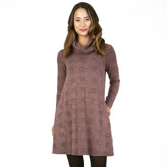 Apt. 9 Women's Long Sleeve Cowlneck Rib Swing Dress