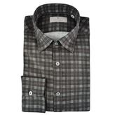 Canali Checked Flannel Shirt