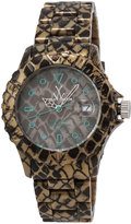 Toy Watch ToyWatch Imprint Reptile-Plasteramic Bracelet Watch, Taupe