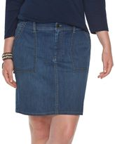 Chaps Plus Size Jean Skirt