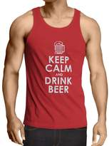 lepni.me N4166V Vest Keep Calm and Drink BEER gift ( Red White)