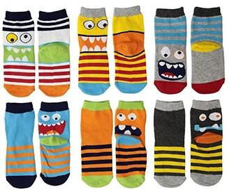 Jefferies Socks Monster Crew Socks 6-Pack (Toddler/Little Kid/Big Kid) (Multi) Boys Shoes