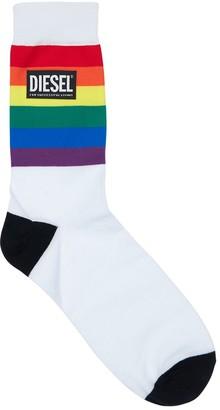 Diesel Pack Of 3 Pride Rainbow Cotton Socks