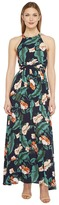 Brigitte Bailey Jimena Tropical Print Maxi Dress Women's Dress