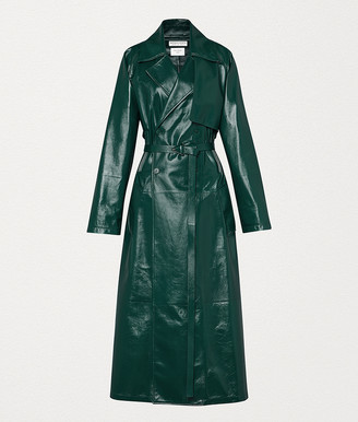 Bottega Veneta Coat In Shiny Leather