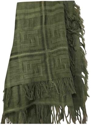 Fendi Green Wool Scarves