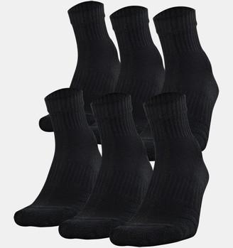 Under Armour Youth UA Training Cotton Quarter 6-Pack Socks