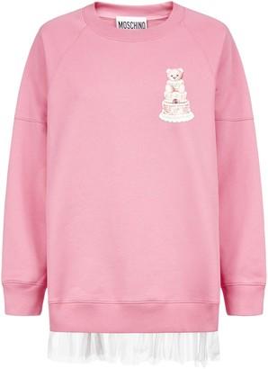 Moschino Cake Teddy Tulle Trim Sweatshirt