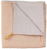 Camomile London Hand Embroidered Two-Toned Swaddle/Light Blanket