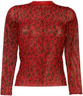 Aries sheer leopard print top