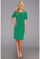 Tahari by Arthur S. Levine Tahari by ASL - Victor Crepe Sheath Dress (Emerald) - Apparel