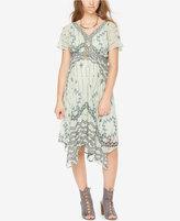 Wendy Bellissimo Maternity Printed Handkerchief-Hem Dress