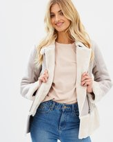 Miss Selfridge Shearling Biker Jacket