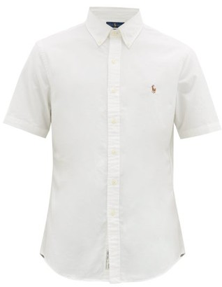 Polo Ralph Lauren Slim-fit Short-sleeve Cotton-poplin Shirt - Mens - White