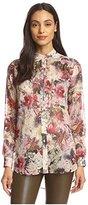 Haute Hippie Women's Drapey Floral Print Blouse