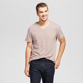 Goodfellow & Co Men's Standard Fit Micro Stripe Short Sleeve V-Neck T-Shirt - Goodfellow & Co Pink