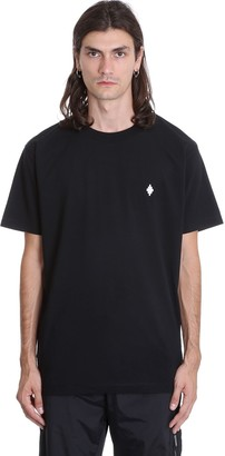Marcelo Burlon County of Milan Cross Basic T-shirt In Black Cotton