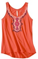 Merona Women's Embroidered High/Low Tank Top - Assorted Colors