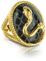 Just Cavalli Amazonia Gold Plated and Onyx Ring