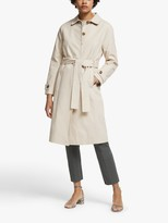 John Lewis & Partners Single Breasted Belted Mac