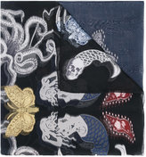 Alexander McQueen underwater printed scarf
