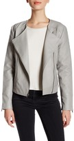 Cupcakes And Cashmere Faux Leather Zip Jacket